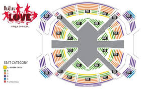 San Francisco Cirque Du Soleil Seating Chart The Beatles Love By Cirque Du Soleil