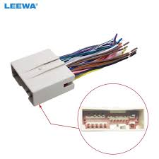 leewa car radio cd player wiring harness audio stereo wire adapter car stereo wiring harness color codes leewa car radio cd player wiring harness audio stereo wire adapter for hyundai sonata install aftermarket
