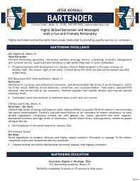 Bartending Resume Templates Custom Resume Templates For Servers Bartenders Best Of Bartender Resume