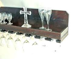 wall mounted wine glass holder wooden