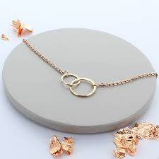 rose gold infinity link necklace