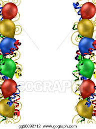 birthday balloons border clip art. Unique Birthday Birthday Balloons Border In Clip Art