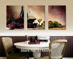 big size modern dining room wall decor wine fruit kitchen art picture printed canvas painting on