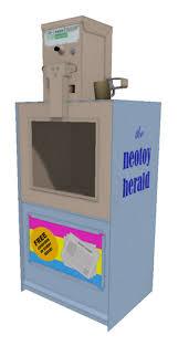 Newspaper Vending Machine Near Me Extraordinary Second Life Marketplace Mesh Newspaper Vending Machine