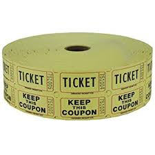 2 part raffle tickets amazon com yellow 2 part raffle tickets 2000 roll office products