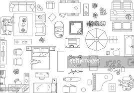 furniture for floor plans. Forniture Plans   Furniture Floor Plan Vector Art Getty Images For D