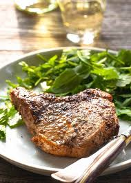 pork chops pan fried on the stovetop
