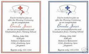 Nursing Graduation Party Invitations Details About 20 Custom Graduation Party Invitations Nursing Nurse