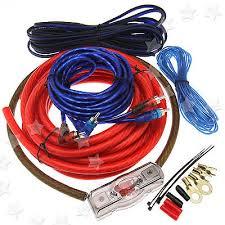 w car amplifier rca audio gauge wiring amp agu fuse cable 2000w car amplifier rca audio 4 gauge wiring 100amp agu fuse cable kit z007 uk