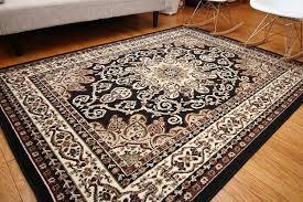rug 8 x 12. amazon.com: generations new oriental traditional isfahan persian area rug, 9\u0027 x 12\u0027, black: kitchen \u0026 dining rug 8 12