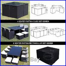 rattan garden furniture cover. Rattan Garden Furniture Cover WATERPROOF OUTDOOR PROTECT CUBE PATIO TABLE COVERS