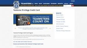 Manage your teamster privilege credit card account online. 2