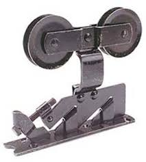 pocket door hardware with roller and ball bearings