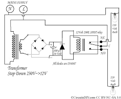 220 volt to 110 volt auto bulb changer circuit circuits diy rh circuitsdiy com led light circuit diagram led light bulb schematic