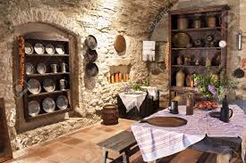 Old Kitchen Old Kitchen Of Castle Slovakia Stock Photo Picture And Royalty