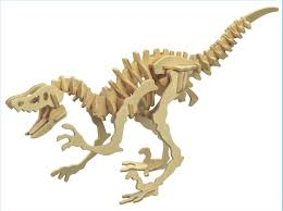 details about new wood assembly diy toy for 3d wooden model puzzles of velociraptor dinosaur