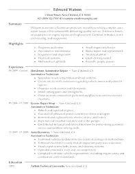 Auto Mechanic Resume Templates Auto Mechanic Resume Mechanics Resume Automotive Technician Resume