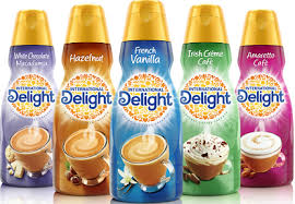 Corn syrup solids, vegetable oil (partially hydrogenated coconut or palm kernel, hydrogenated soybean), and less than 2% of dipotassium phosphate (moderates coffee acidity), sodium. 1 Off International Delight Coffee Creamer Product Coupon Hunt4freebies