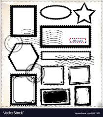 Stamps Template Vintage Post Stamps Template