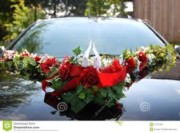 Wedding Car Decorate Wedding Car Decoration Of Two White Doves Royalty Free Stock Image