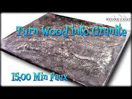 turn wood into granite diy countertops