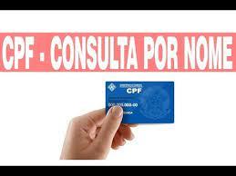 consulta de cpf pelo nome pleto