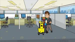 office cubicle clipart.  Clipart A Janitor Pushing His Cleaning Trolley At Office Cubicles To Cubicle Clipart