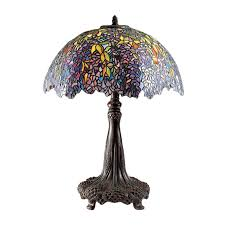 quoizel laburnum 30 75 in architectural bronze indoor table lamp with tiffany style shade