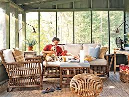 furniture for screened porch. a screened porch lives like an indoor room with cozy cushioned furniture tabletop fan and even television articulating sconces cast flattering for c