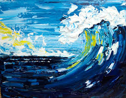 abstract acrylic painting s good vibrations pallet knife wave beginner acrylic painting tutorial