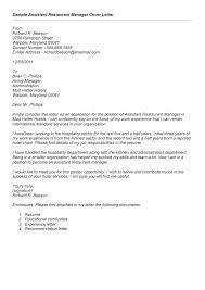 Restaurant Manager Resume Sample Delectable Restaurant Manager Resume Cover Letters Kenicandlecomfortzone