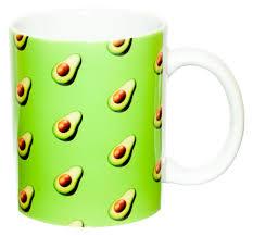 Керамическая <b>кружка</b> 3Dollara Паттерн с авокадо <b>эмодзи</b> ...