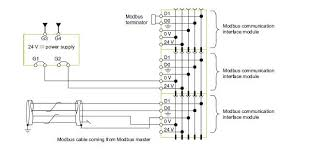 describe the connections for the modbus cable and the 24 vdc power describe the connections for the modbus cable and the 24 vdc power supply in detail used at modbus communication interface module trv00210