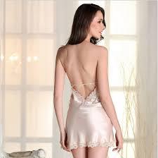 Womens sexy satin nightshirt