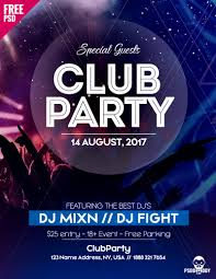 Download Free Psd Flyer For Club Party Psddaddy Com