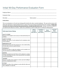 Employee Evaluation Form Template Pdf