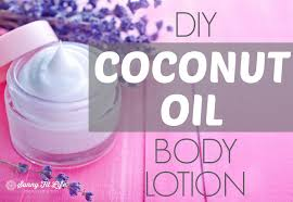 coconut oil lotion with lavender essential oil
