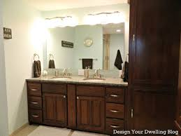 dual vanity bathroom: bathroom fancy bathroom mirror for double vanity large mirror on the white wall featuring