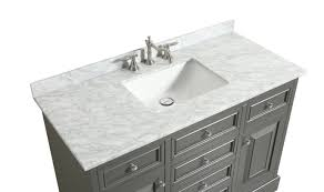 eviva monroe 48 in gray bathroom vanity with white carrara marble top and white undermount porcelain sink