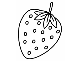 Strawberry Coloring Sheet Coloring Kids Coloring