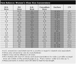 New Balance Size Chart Inches Thorough New Balance Chart New Balance Unisex Size Chart Merlin