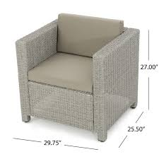 christopher knight home puerta grey outdoor wicker sofa set. Marvelous Design Ideas Christopher Knight Home Puerta Grey Outdoor Wicker Sofa Set 35 Y