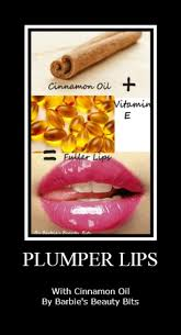 how to have plumper lips with cinnamon oil and vitamin e