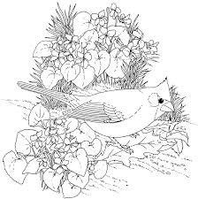 Small Picture Flower Coloring Pages With Free Printable Coloring Pages Birds