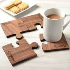 cnc design ideas. personalised set of four walnut wood coasters cnc design ideas