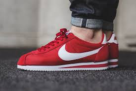 nike cortez leather red