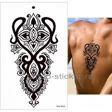 временная татуировка орнамент 33988