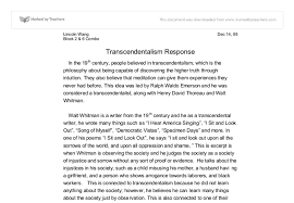write about something that s important transcendentalism essay topics jefferson had always viewed newspaper report writing ks1 transcendentalism essay topics as weak dependent and incapable transcendentalism is a term rooted