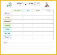 Printable Weekly Dinner Menu Printable Weekly Menu Template