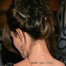 Meanings Of Angelina Jolies Many Tattoos